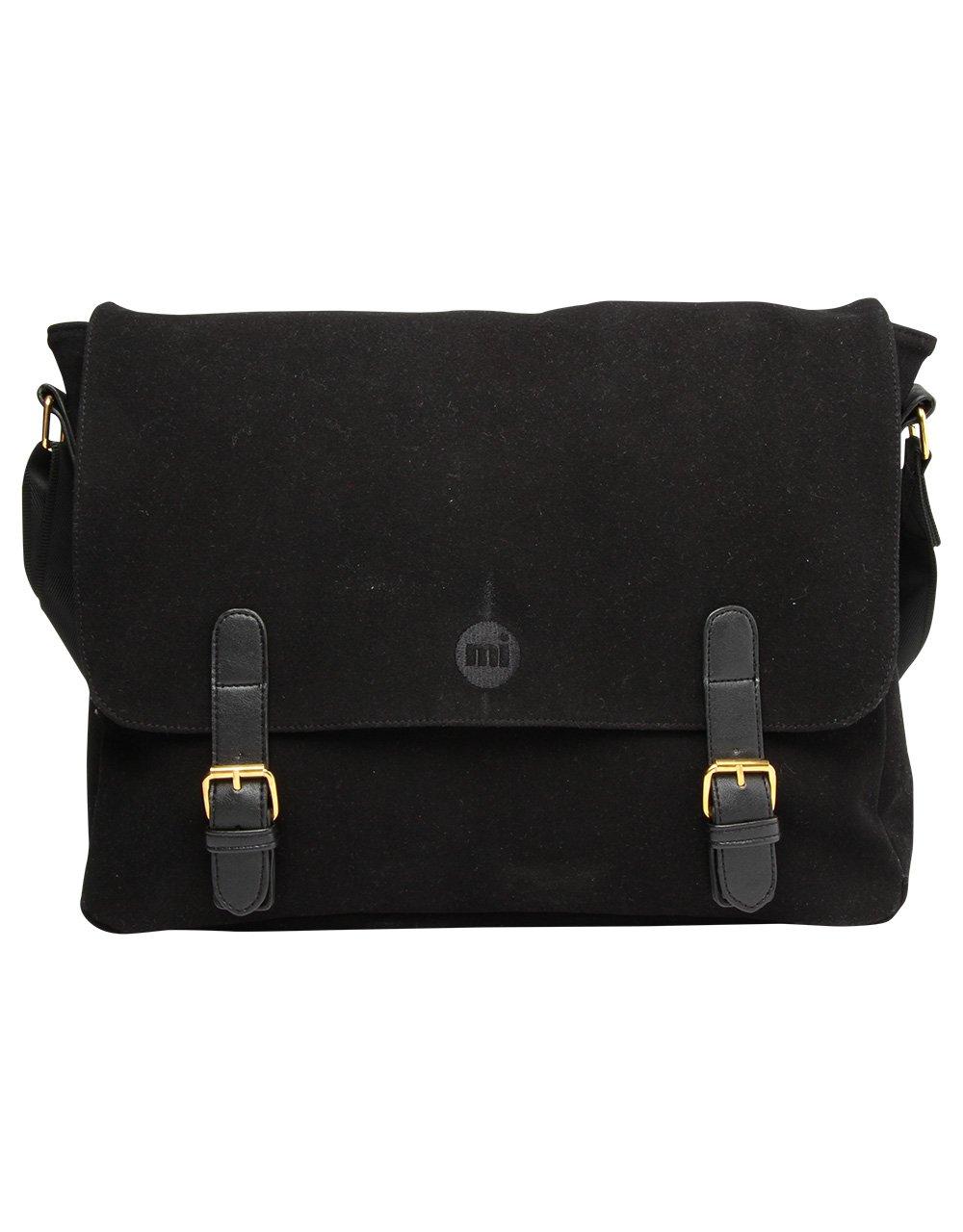 Suede,Black Black Mi-Pac Shoulder Bag