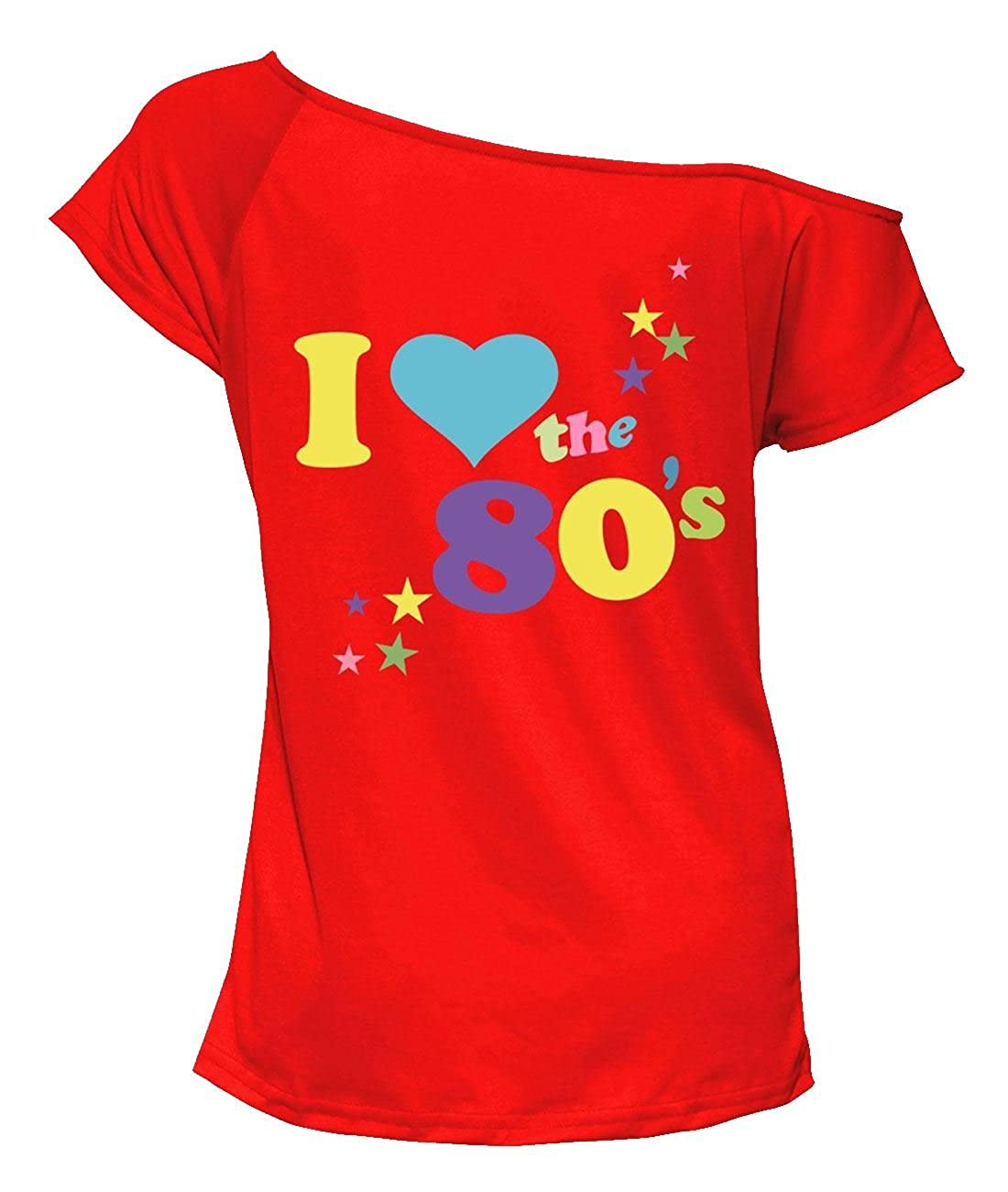 Rimi Hanger Ladies I Love The 80s Printed Party Wear T Shirt Top S/XXXL