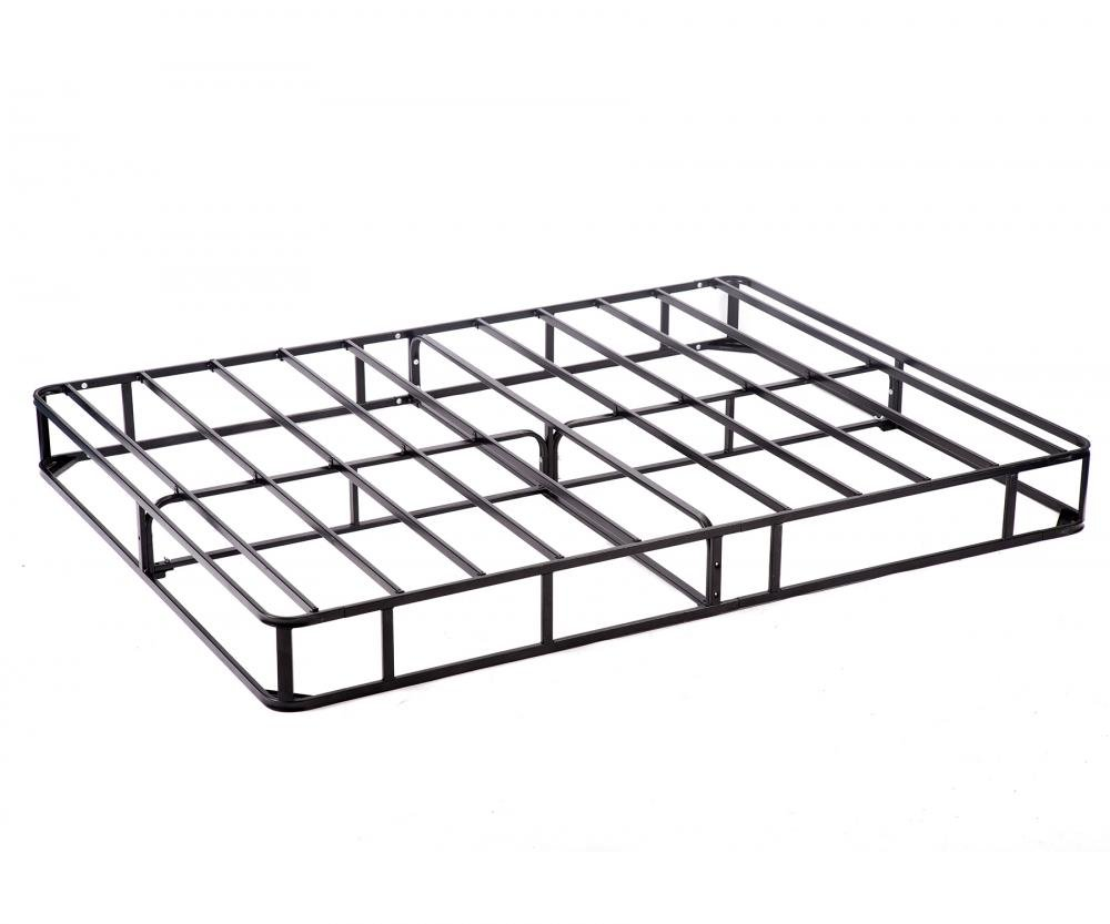Box Spring Metal Bed Frame Queen Size Mattress Foundation Heavy Duty Strong Steel Structure Smart 8 Inch Easy Assembly Required,Black by FDW