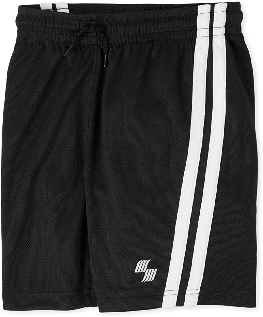 The Childrens Place Boys Side Stripe Mesh Shorts