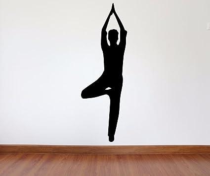 Amazon.com: Yoga Wall Decal - 45