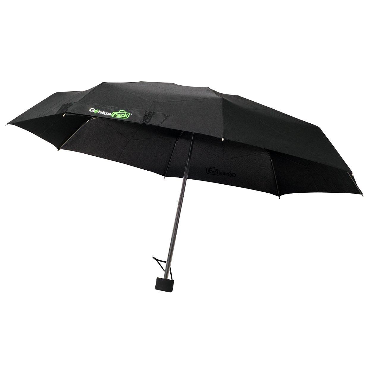 Genius Pack Micro Travel Umbrella v3.0 Improved Frame, No-Hassle Locking Mechanism