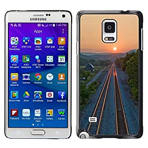 Paccase / SLIM PC / Aliminium Casa Carcasa Funda Case Cover - Sunset Beautiful Nature 71 - Samsung Galaxy Note 4 SM-N910F SM-N910K SM-N910C SM-N910W8 SM-N910U SM-N910