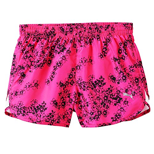 PUMA Girls Athletic Running Shorts Active Yoga Gym Playground Pink Glo XLarge ()