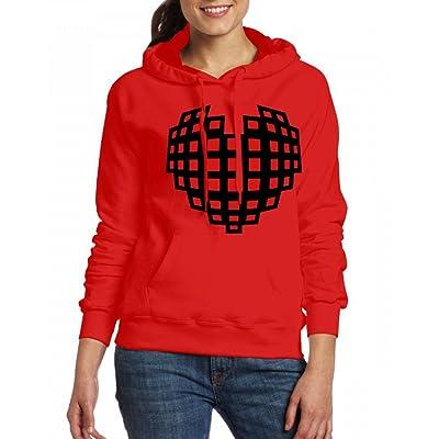 3d model heart Womens Hoodie Fleece Custom Sweartshirts