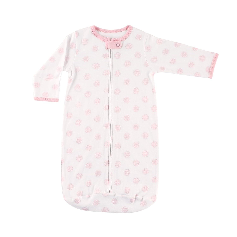 Hudson Baby Baby Girls' Curled Rosette Sleep Bag Pink Damask 1 Pack 50671_PinkScroll_0-3M
