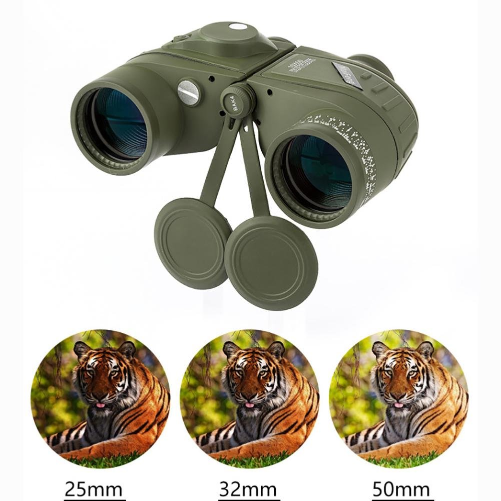 MIAO Outdoor Adult Military Standard High - Definition High Power 10x50 Micro - Light Night Vision Ranging Binoculars with Compass Coordinates by miaomiao (Image #4)