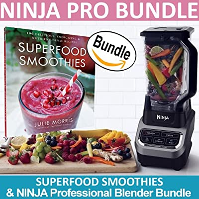 Ninja Professional Blender 1000 (BL610) & Superfood Smoothies: 100 Delicious, Energizing & Nutrient-dense Recipes Book (Bundle)