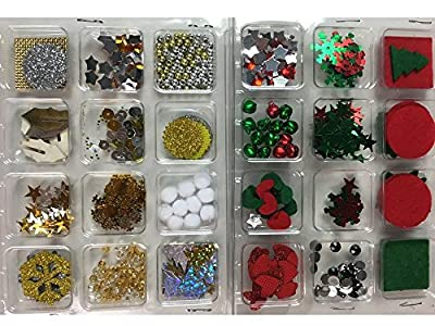 500+ Pieces Christmas Scrapbook Embellishments for Cards, Photo Albums, Crafts, Gift Wrapping, & Scrapbooking