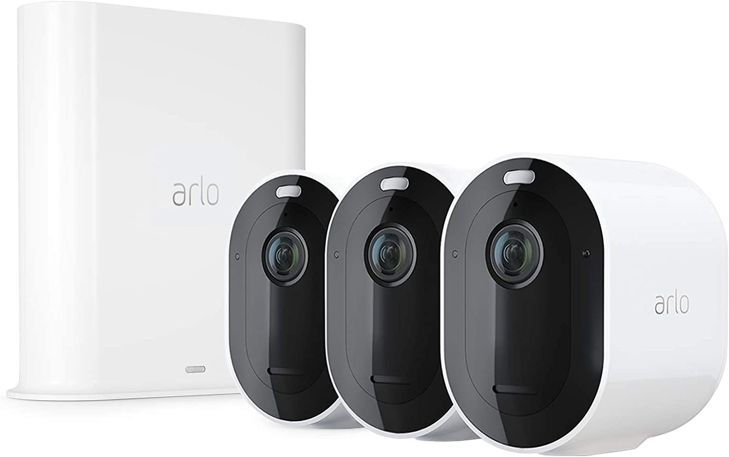 Arlo Pro 3 - Home Security 3 Camera System, Wire-Free 2K Video with HDR, Color Night Vision, Spotlight, 160° View, 2-Way Audio, Siren, Works with Alexa (Renewed)