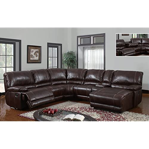 Sectional Couches With Recliners And Chaise Inside Global Furniture Usa U1953sectional Brown 940global Piece Pcs Sectional 940 Sofa With Chaise And Recliner Amazoncom