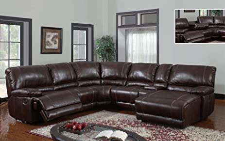 Global Furniture USA U1953-SECTIONAL Global Furniture Piece 6 Pcs Sectional Brown 940 : global furniture sectional - Sectionals, Sofas & Couches