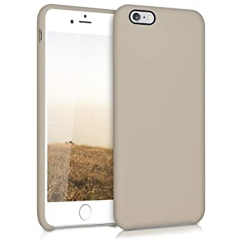 kwmobile Funda compatible con Apple iPhone 6 Plus / 6S Plus - Carcasa de {TPU} para móvil - Cover {trasero} en {marrón topo}