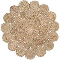 Safavieh Natural Fiber Collection NF363A Hand-Woven Natural Jute Round Area Rug (3 in Diameter)