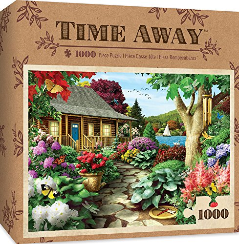 MasterPieces Time Away Dragonfly Garden Cabin Lake Scene Jigsaw Puzzle by Alan Giana, ()