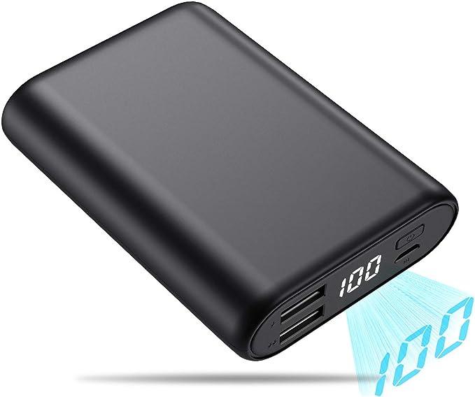 150 opinioni per QTshine Power Bank, 16800mAh [Mini Design] Caricabatterie Portatile con LCD