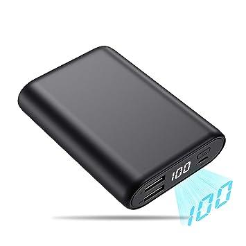 QTshine Power Bank 16800mAh Batería Externa Muy Compacto Cargador Portátil Mini diseño de Gran Capacidad con Pantalla LCD Digital y 2 Puertos Salidas ...