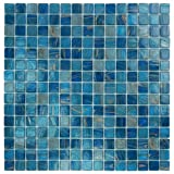 Blue Copper Glass Tile Blend 3/4