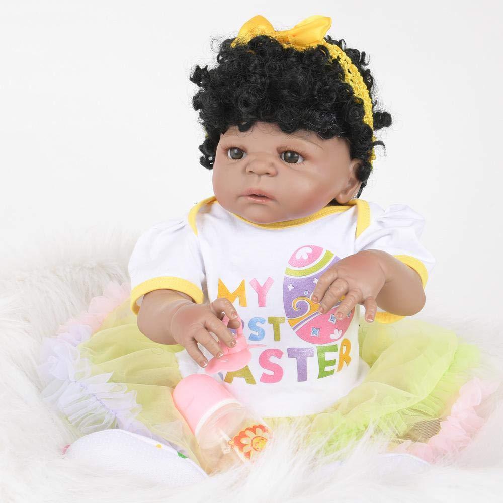 Hongge Reborn Bambola,Tutti i gel di vinile bambola di Silicone plastica può fare il bagno giocattoli bambini bambino bambola regalo 58cm