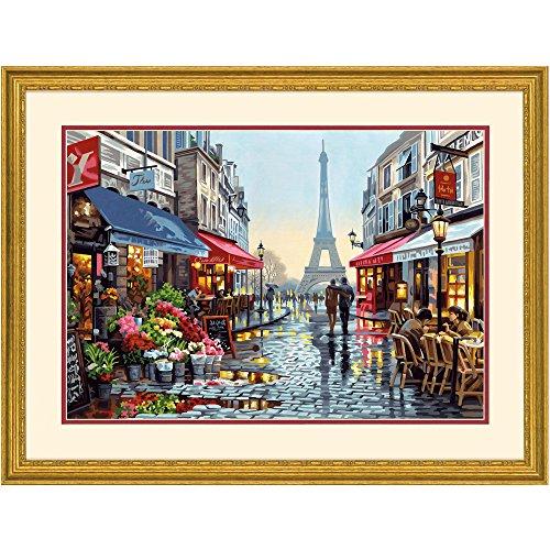 Dimensions 73-91651 Paris Flower Shop Paint by Numbers for Adults, 20'' W x 14'' L