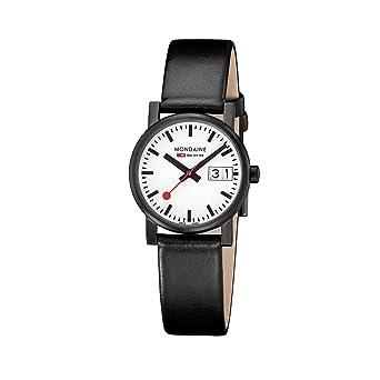 Mondaine SBB Evo Big Date black&white 30mm A669.30305.61SBB Reloj de pulsera Cuarzo Mujer