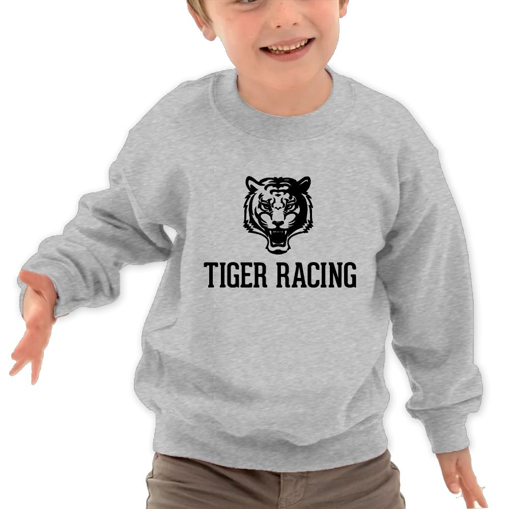 Babyruning Tiger Racing Childrens Cotton Hoody Sports Long-Sleeved Tops