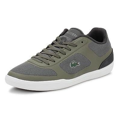 6b9668be3 LACOSTE Men Sports Shoes 33CAM1027 Court 1X5 Khaki Size 44  Amazon ...