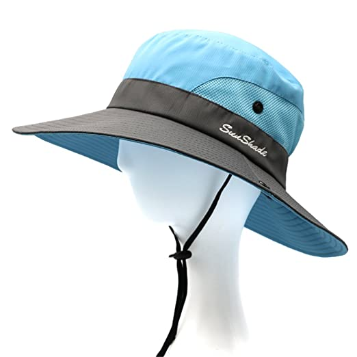 900c9c288d0 Image Unavailable. Image not available for. Color  LVAIZ Waterproof Sun Hat  Outdoor UV Protection Bucket Mesh Boonie Hat Adjustable Fishing Cap ...