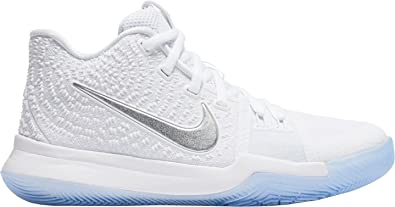 online store 600d8 12e3c NIKE Kid s Kyrie 3 GS, White Chrome, ...