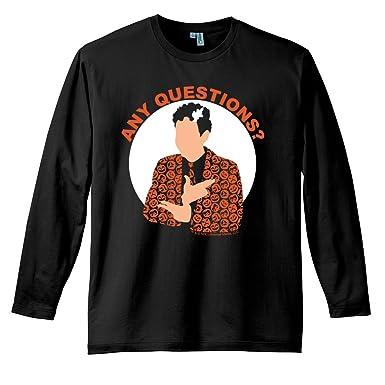 5db49840 Saturday Night Live David S. Pumpkins Any Questions Black Long Sleeve T  Shirt-Black