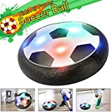 Air Power Soccer Ball, Kids Toy Hover Ball Football with Foam Bumpers LED Lights for Children Playing Training and Exercise, Indoor Outdoor Disk Hover Ball Game by MIBOTE
