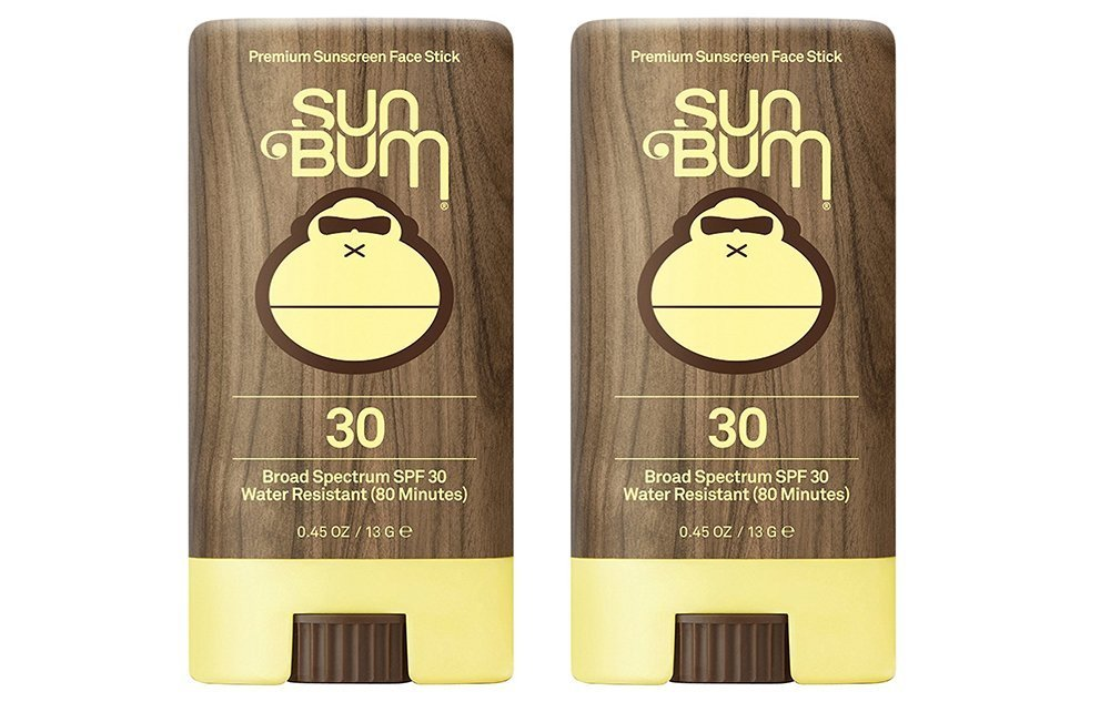 Sun Bum SPF 30 fPVNM Sunscreen, Original Face Stick (2 Pack)