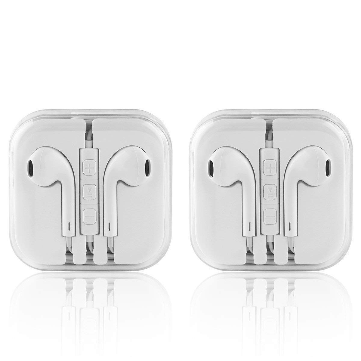 Apple Earbuds, Earphones Wired with Mic and Remote Control Fits Apple iPhone 6S Plus 6 SE 5S Samsung Galaxy S7 S6 Note 3 2 1/MP5 Player iOS Android,2 Pack