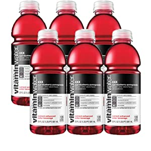 Vitamin Water Acai-Blueberry-Pomegranate - XXX, 20 Oz Bottle (Pack of 6, Total of 120 Oz)