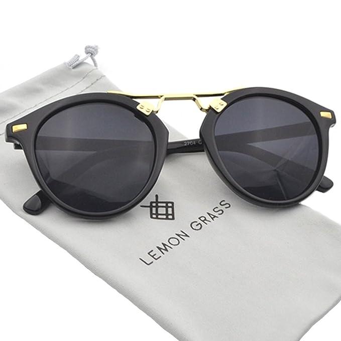 Amazon.com: Para mujer anteojos de sol Vintage retro lentes ...