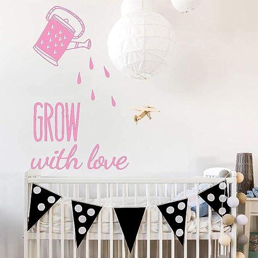 Crecer con amor etiqueta de la pared vinilo arte extraíble ...