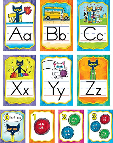 Edupress EP63950 Pete the Cat Alphabet Bulletin Board (Pete The Cat Bulletin Board)