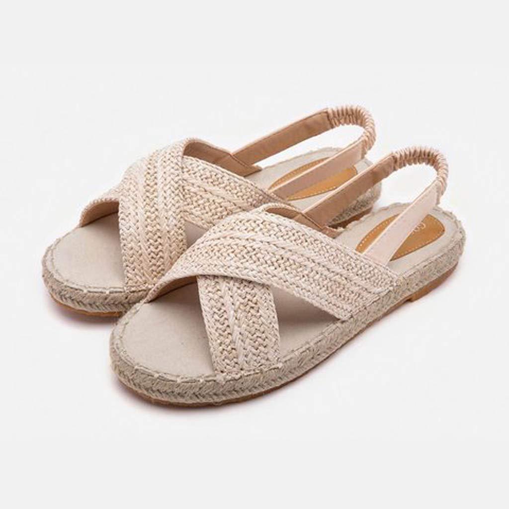 Amazon.com: Sharemen💋Womens Fashion Hemp Flat Fisherman Shoes, 👡Ladies Fashion Casual Sandals: Clothing
