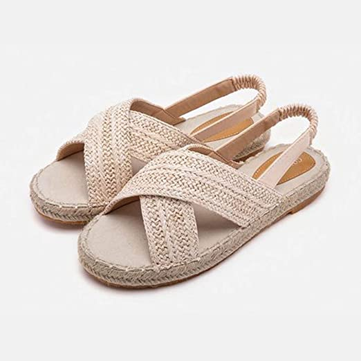 Amazon.com: Sharemen💋Womens Fashion Hemp Flat Fisherman Shoes, 👡Ladies Fashion Casual Sandals: Clothing