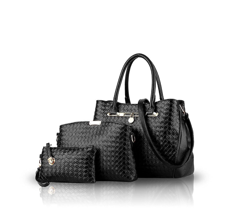 NICOLE&DORIS 2016 New Women Shoulder Bag 3 Piece Tote Bag Pu Leather Handbag Purse Bags Set