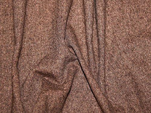 Tweed Wool Blend Suiting Dress Fabric Chestnut - per (Tweed Suiting)