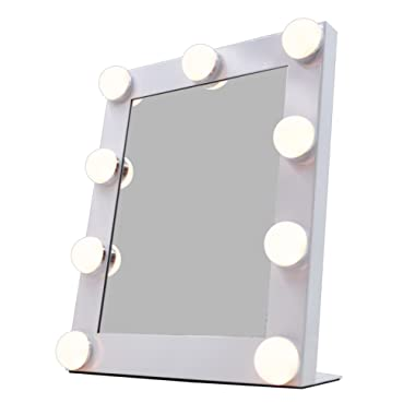 UPHAN V1mini Dimmable Hollywood Makeup Vanity Mirror Light, 16 inch Illuminated Cosmetic Mirror for Makeup Dressing Table Vanity Set Mirrors with Dimmer, Plug in Dual Power Supply Tabletop Vanity, LED