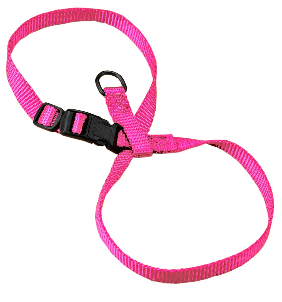 Hamilton 3/8-Inch Adjustable Figure 8 Pup-Cat Harness, Large, Hot Pink