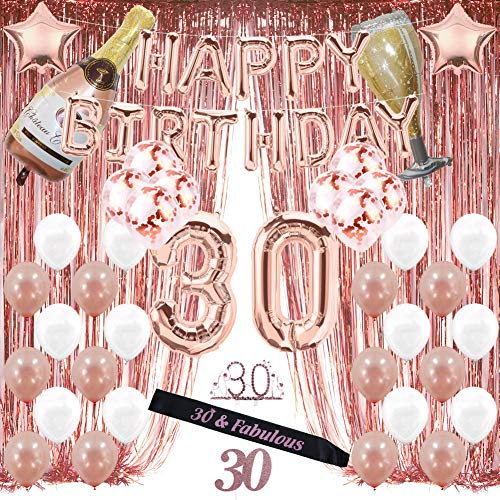 30th Birthday Themes For Her - 30th Birthday Decorations, 30 Birthday Party