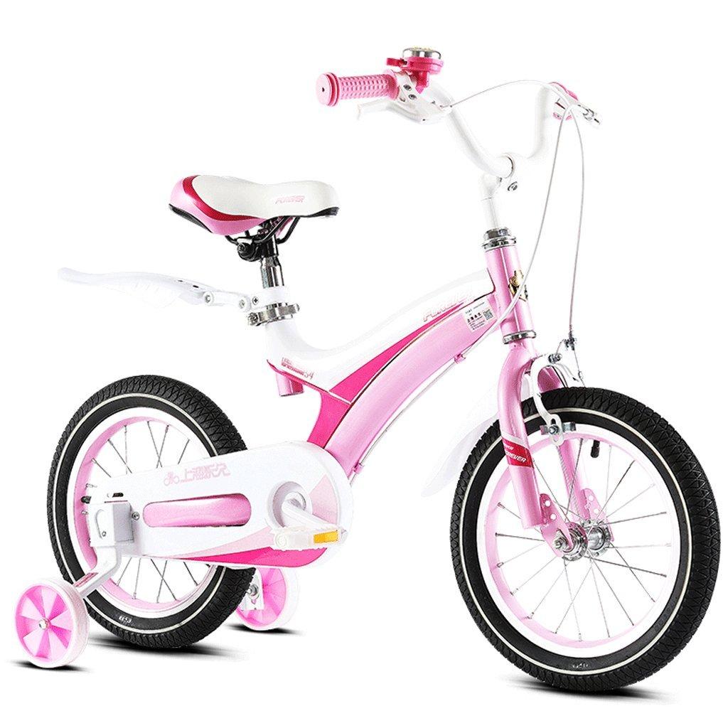 子供の自転車2-12歳の赤ん坊の子供のペダル自転車の少年の少女の赤ちゃんの運送 (色 : ピンク ぴんく, サイズ さいず : 16 inches) B07D4FFKH9 16 inches|ピンク ぴんく ピンク ぴんく 16 inches