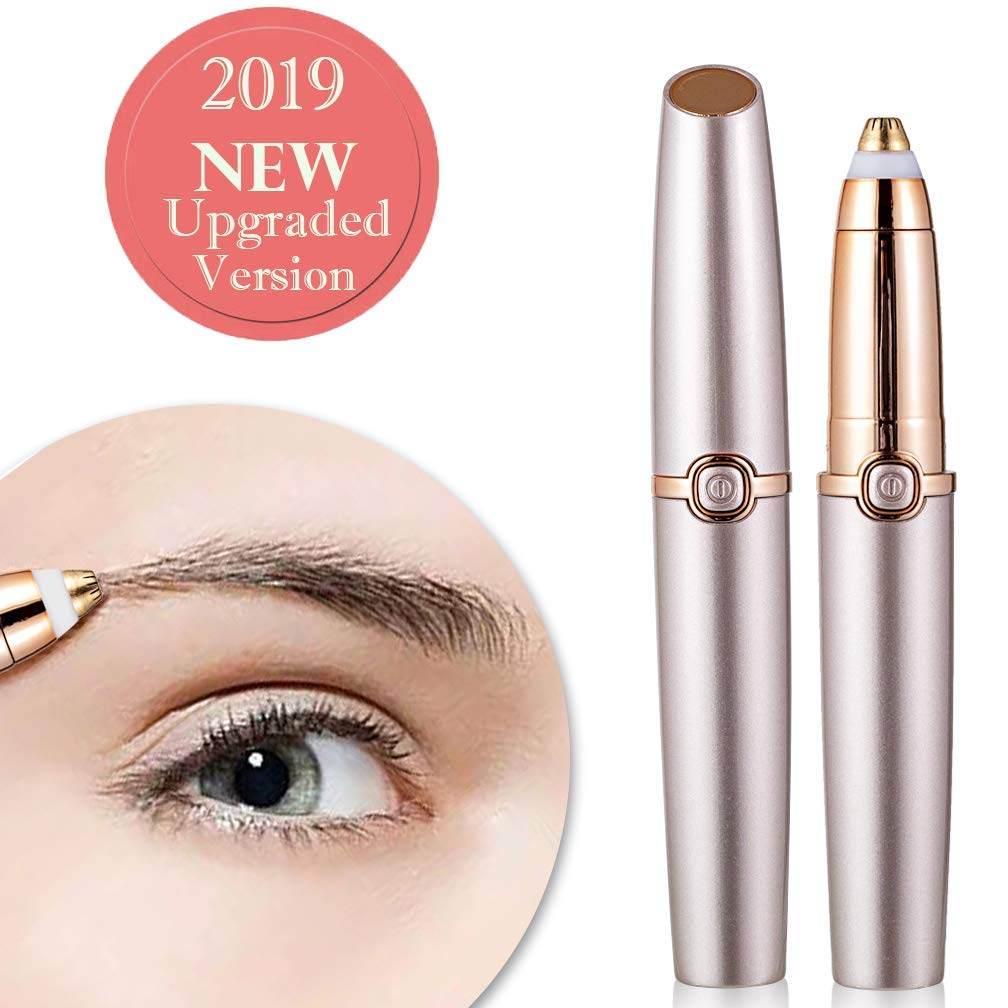 Eyebrow Trimmer for Women Eyebrow Hair Remover Electric Painless Hair Removel Rose Gold(Battery Not Include)