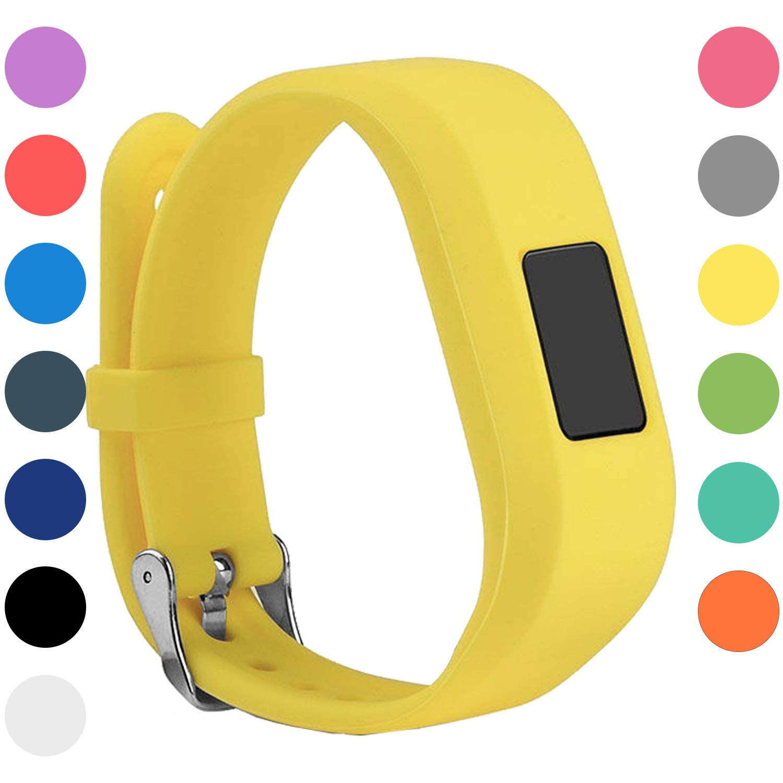 StrapsCo Silicone Rubber Replacement Watch Band Strap for Garmin Vivofit Jr