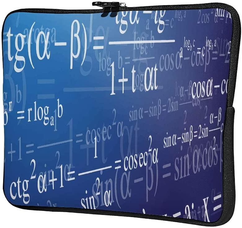 Laptop Bags Math Formula Novelty Regular Scratch-Resistant Math Tablet Briefcase Suitable for Indoor White 10inch