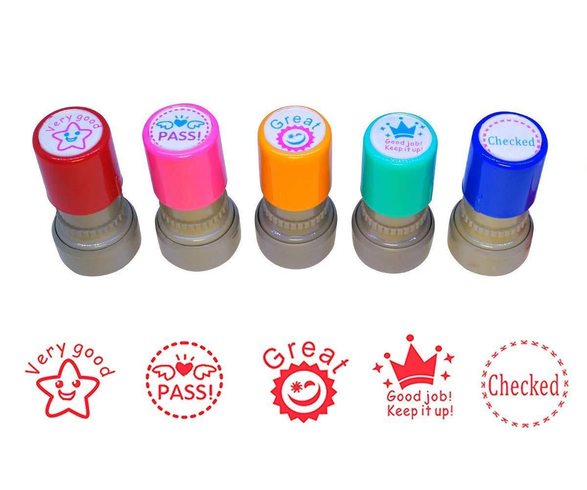 NEW ExcelMark Motivations Pre Inked Teacher StampDino-Mite Black Ink