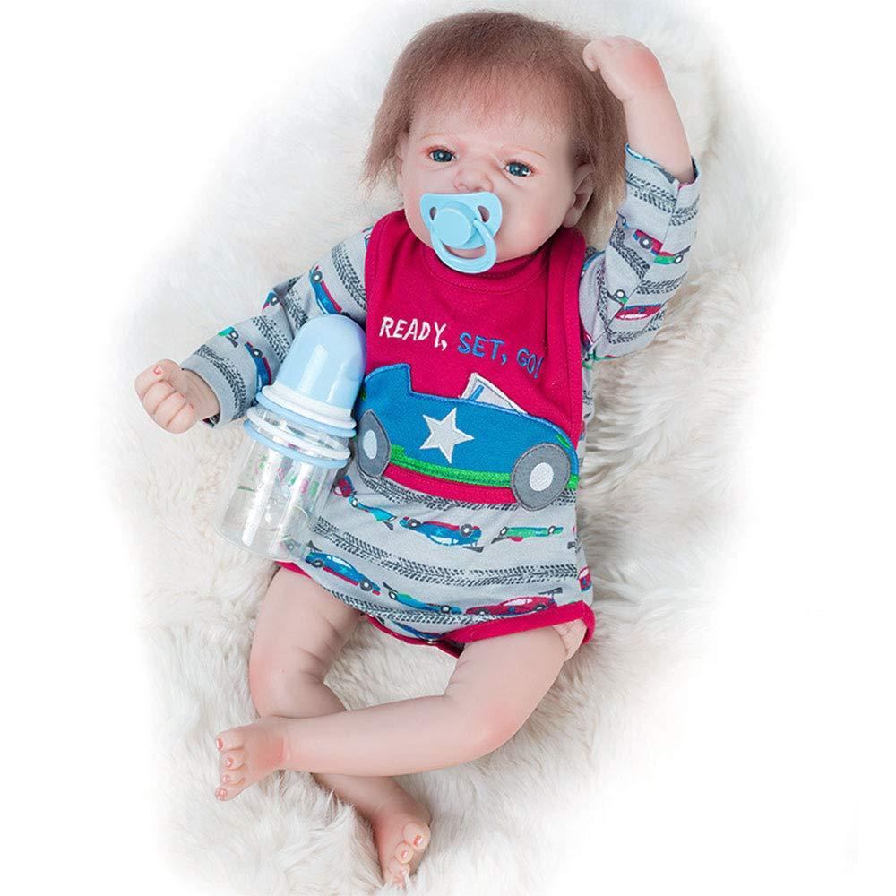 Realität Schlaf Reborn Babypuppe Baby Puppe Mädchen Realistische Silikon Puppe Silikon Simulation Reborn Kunststoff Puppe 51,6 cm